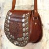boho bag tooled studded saddle bag 321