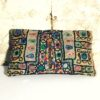 leather Indian boho coin clutch bag Devna back