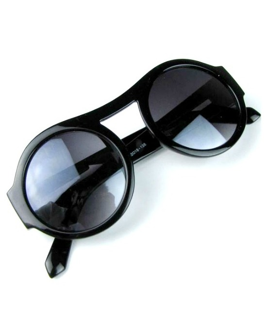 round frame arrow sunglasses, black 11
