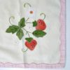 50s vintage applique strawberry table set 2