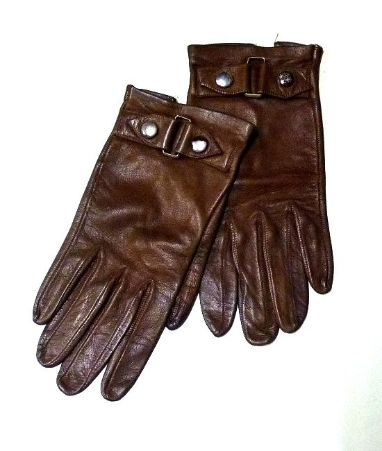 50s vintage leather driving gloves 1