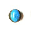 60s vintage Afghan hippie ring, turquoise & gold 1111