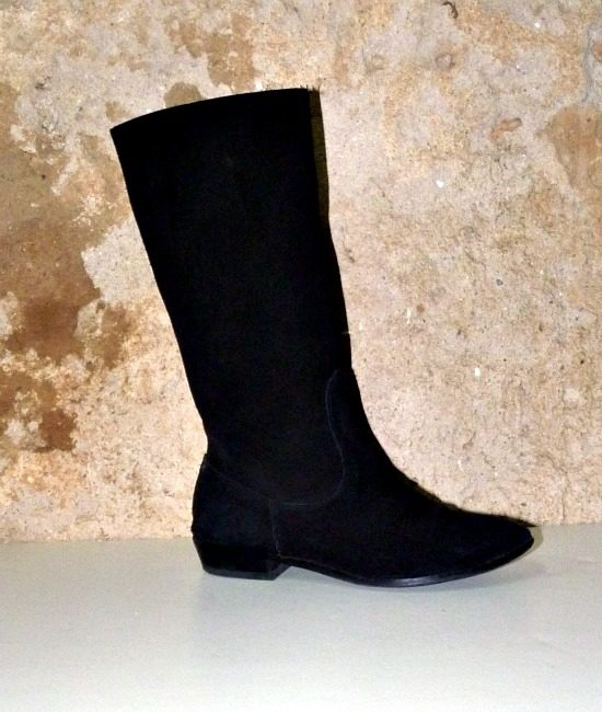 60s vintage black suede pirate boots 1