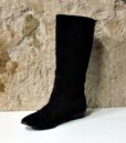 60s vintage black suede pirate boots 111