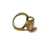60s vintage brass ring, pink stone 11