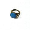 60s vintage brass ring, sky blue stone 11