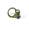 60s vintage brass ring, sky blue stone 111