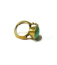 60s vintage brass ring, turquoise stone 11