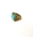 60s vintage hippie ring, square turquoise stone 11