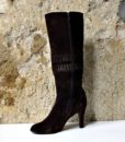 60s vintage russet brown suede boots 11