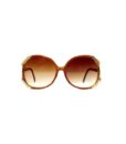 70s style gold trim sunglasses brown 11
