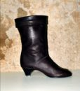 70s vintage brown leather ankle boots 11