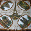 70s vintage scarf Paris Eiffel Tower 11
