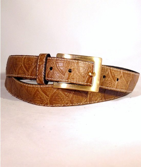 70s vintage sleek moc crock belt 1
