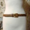 70s vintage sleek moc crock belt 11