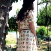 70s vintage summer dress, white with floral detail 11