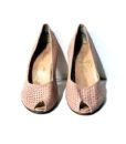 80s vintage baby pink peep toe shoes 11