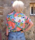 80s vintage bright patterned shirt 111