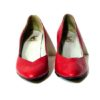 80s vintage red leather shoes 111