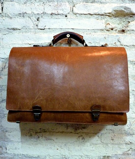 70s vintage delux leather briefcase 1