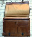 70s vintage delux leather briefcase 11