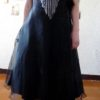 80s vintage black bodice prom dress 11