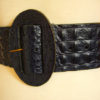 80s vintage black leather mock croc belt 11
