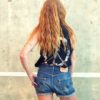 90s vintage Levi's 501 cut off denim shorts dark blue 111