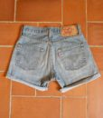 levis high waisted denim shorts 501 2 back