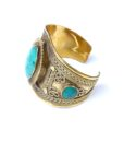 vintage boho bangle turquoise 567
