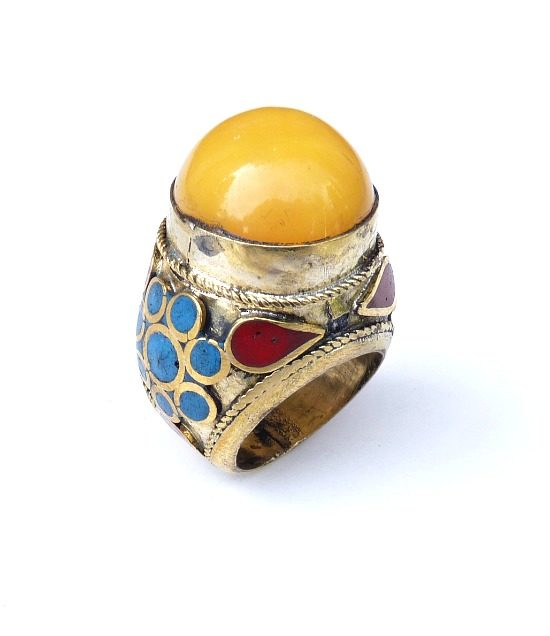 vintage chunky hippie ring 889