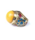 vintage chunky hippie ring 894