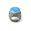 vintage chunky hippie ring turquoise 678