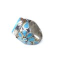 vintage chunky hippie ring turquoise 690