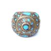 vintage chunky hippie ring turquoise 780