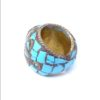 vintage chunky hippie ring turquoise 789