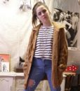 70s vintage chunky cable knit cardigan 1