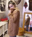 70s vintage chunky cable knit cardigan 10