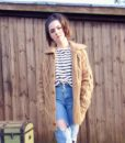 70s vintage chunky cable knit cardigan 2
