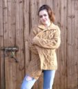 70s vintage chunky cable knit cardigan 4