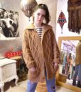 70s vintage chunky cable knit cardigan 6