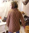 70s vintage chunky cable knit cardigan 9