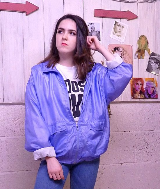80s vintage lilac shell suit jacket 2