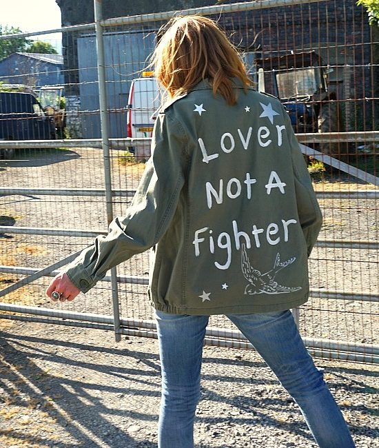 lover not a fighter custom military jacket me 1