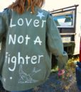 lover not a fighter custom military jacket me 2