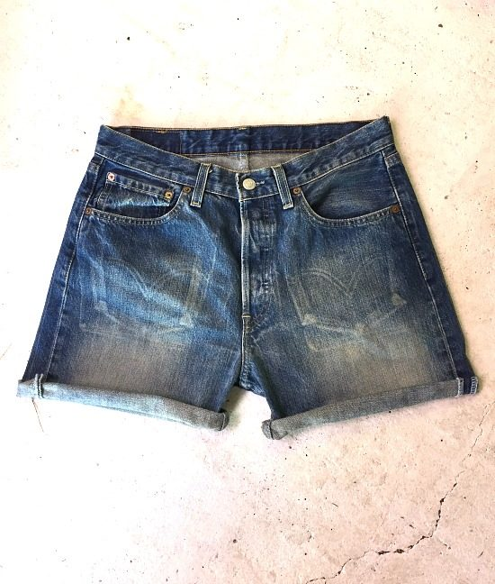 vintage levis denim shorts 580