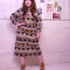 70s vintage African maxi dress 1