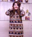 70s vintage African maxi dress 2