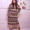 70s vintage African maxi dress 3