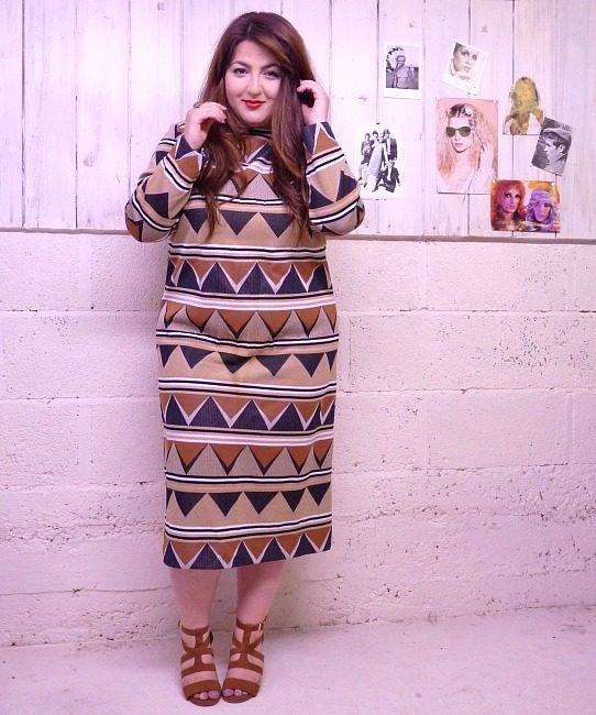 70s vintage African maxi dress 4